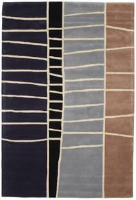 Abstract Bambù Handtufted Tappeto 200X300 Moderno Porpora Scuro/Grigio Chiaro (Lana, India)