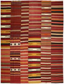 Kilim Patchwork Tappeto 355X444 Moderno Tessuto A Mano Rosso Scuro/Rosso Grandi (Lana, Turchia)