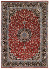 Ilam Sherkat Farsh Di Seta Tappeto 245X350 Orientale Fatto A Mano Rosso Scuro/Marrone Scuro/Grigio Scuro (Lana/Seta, Persia/Iran)