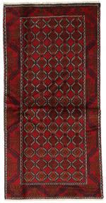 Beluch Tappeto 98X197 Orientale Fatto A Mano Rosso Scuro (Lana, Persia/Iran)