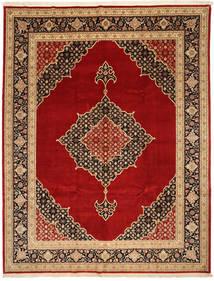 Tabriz 50 Raj Con Seta Tappeto 250X322 Orientale Fatto A Mano Rosso Scuro/Marrone Scuro Grandi (Lana/Seta, Persia/Iran)