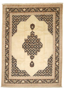 Tabriz 50 Raj Con Seta Tappeto 250X338 Orientale Fatto A Mano Beige Scuro/Beige Grandi (Lana/Seta, Persia/Iran)