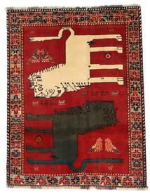 Ghashghai Figurale Tappeto 133X172 Orientale Fatto A Mano Ruggine/Rosso/Grigio Scuro (Lana, Persia/Iran)