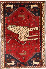 Ghashghai Tappeto 134X211 Orientale Fatto A Mano Rosso Scuro/Ruggine/Rosso (Lana, Persia/Iran)