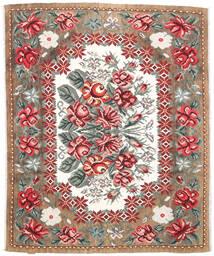 Kilim Rose Moldavia Tappeto 177X213 Orientale Tessuto A Mano Marrone Chiaro/Marrone Scuro (Lana, Moldavia)