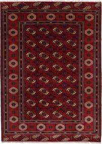 Turkaman Tappeto 208X287 Orientale Fatto A Mano Rosso Scuro/Marrone Scuro (Lana, Persia/Iran)