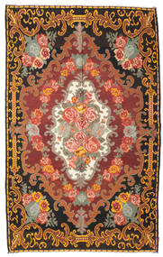 Kilim Rose Moldavia Tappeto 219X351 Orientale Tessuto A Mano Marrone Scuro/Marrone (Lana, Moldavia)