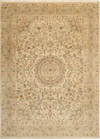 Tabriz 50 Raj Con Seta Tappeto 250X346 Orientale Fatto A Mano Beige Scuro/Marrone Chiaro/Beige Grandi (Lana/Seta, Persia/Iran)