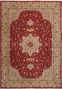 Tabriz 50 Raj Con Seta Tappeto 255X360 Orientale Fatto A Mano Rosso Scuro/Marrone Chiaro Grandi (Lana/Seta, Persia/Iran)
