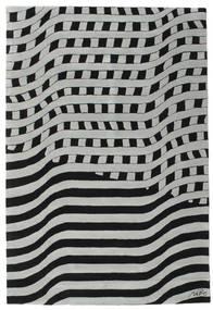Passages Handtufted - Nero/Grigio Tappeto 200X300 Moderno Nero/Grigio Chiaro/Blu Turchese (Lana, India)