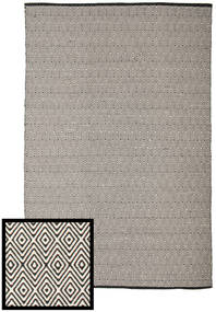 Diamond - Nero/Bianco Tappeto 250X300 Moderno Tessuto A Mano Grigio Chiaro/Grigio Scuro Grandi (Cotone, India)