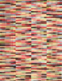 Kilim Moderni Tappeto 305X397 Moderno Tessuto A Mano Beige Scuro/Rosso Scuro Grandi (Lana, Afghanistan)