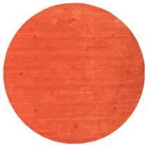 Loribaf Loom Tappeto Ø 202 Moderno Fatto A Mano Rotondo Arancione/Rosso (Lana, India)