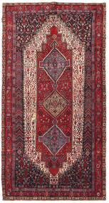 Kurdi Tappeto 139X270 Orientale Fatto A Mano Marrone Scuro/Rosso Scuro (Lana, Persia/Iran)
