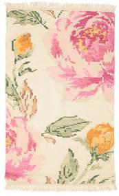 Kilim Karabakh Sofia - Beige/Off-Bianco Tappeto 100X160 Moderno Tessuto A Mano Beige/Rosa Chiaro (Lana, India)