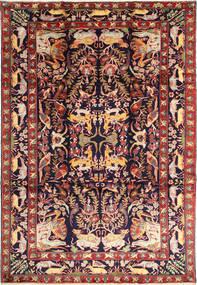 Bakhtiyar Figurale Tappeto 231X332 Orientale Fatto A Mano Rosso Scuro/Nero (Lana, Persia/Iran)