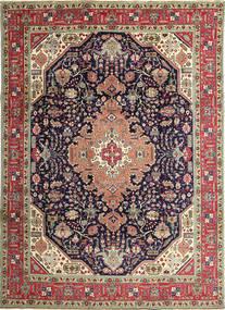 Tabriz Patina Tappeto 250X350 Orientale Fatto A Mano Grigio Scuro/Marrone Grandi (Lana, Persia/Iran)
