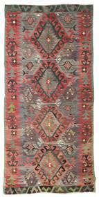 Kilim Semi-Antichi Turchi Tappeto 153X325 Orientale Tessuto A Mano Rosso Scuro/Grigio Scuro (Lana, Turchia)