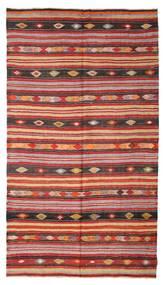 Kilim Semi-Antichi Turchi Tappeto 180X322 Orientale Tessuto A Mano Rosso Scuro/Ruggine/Rosso (Lana, Turchia)