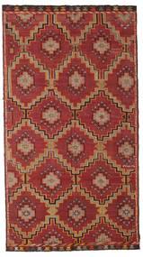 Kilim Semi-Antichi Turchi Tappeto 175X318 Orientale Tessuto A Mano Rosso Scuro/Marrone Scuro (Lana, Turchia)