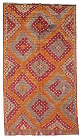 Kilim Semi-Antichi Turchi Tappeto 170X306 Orientale Tessuto A Mano Rosso Scuro/Marrone (Lana, Turchia)