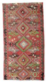 Kilim Semi-Antichi Turchi Tappeto 170X316 Orientale Tessuto A Mano Rosso Scuro/Verde Oliva (Lana, Turchia)