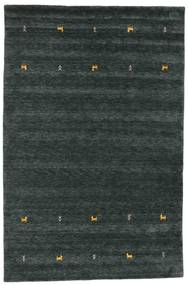Gabbeh Loom Two Lines - Grigio Scuro/Verde Tappeto 190X290 Moderno Nero (Lana, India)
