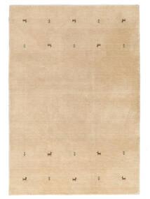 Gabbeh Loom Two Lines - Beige Tappeto 160X230 Moderno Beige Scuro/Marrone Chiaro/Giallo (Lana, India)