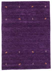Gabbeh Loom Two Lines - Porpora Tappeto 140X200 Moderno Porpora Scuro (Lana, India)