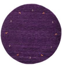 Gabbeh Loom Two Lines - Porpora Tappeto Ø 150 Moderno Rotondo Porpora Scuro (Lana, India)
