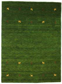 Gabbeh Loom Two Lines - Verde Tappeto 140X200 Moderno Verde Scuro (Lana, India)