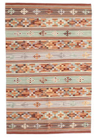 Kilim Anatolian Tappeto 100X160 Moderno Tessuto A Mano Rosso Scuro/Grigio Chiaro (Lana, India)