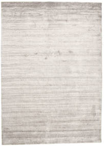Bambù Di Seta Loom - Warm Grigio Tappeto 160X230 Moderno Grigio Chiaro/Bianco/Creme ( India)