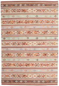 Kilim Anatolian Tappeto 190X290 Moderno Tessuto A Mano Rosso Scuro/Grigio Chiaro (Lana, India)