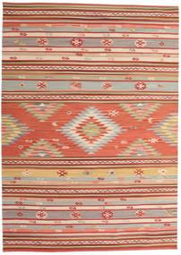 Kilim Mersin Tappeto 160X230 Moderno Tessuto A Mano Ruggine/Rosso/Rosso Scuro (Lana, India)