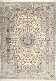 Nain 6La Habibian Tappeto 242X348 Orientale Fatto A Mano Grigio Chiaro/Beige (Lana/Seta, Persia/Iran)