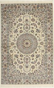 Nain 6La Tappeto 118X182 Orientale Fatto A Mano Grigio Chiaro/Beige (Lana/Seta, Persia/Iran)