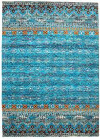 Quito - Turchese Tappeto 240X340 Moderno Fatto A Mano Blu Turchese/Grigio Chiaro (Seta, India)