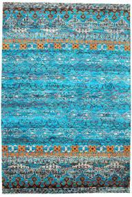 Quito - Turchese Tappeto 190X290 Moderno Fatto A Mano Blu Turchese/Blu (Seta, India)