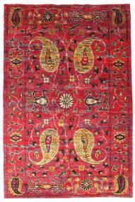 Vega Sari Di Seta Tappeto 200X300 Moderno Fatto A Mano Rosso/Ruggine/Rosso (Seta, India)