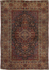 Isfahan Antichi Tappeto 147X215 Orientale Fatto A Mano Rosso Scuro/Marrone Scuro (Lana, Persia/Iran)
