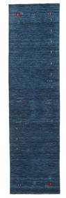 Gabbeh Loom Frame - Blu Scuro Tappeto 80X300 Moderno Alfombra Pasillo Blu Scuro (Lana, India)