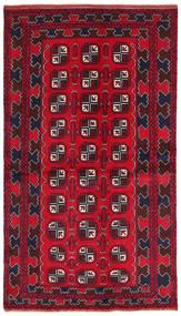 Beluch Tappeto 103X187 Orientale Fatto A Mano Rosso Scuro/Rosso/Marrone Scuro (Lana, Afghanistan)