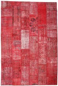 Patchwork Tappeto 201X296 Moderno Fatto A Mano Rosso/Ruggine/Rosso (Lana, Turchia)