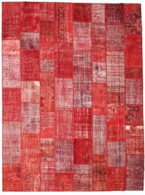 Patchwork Tappeto 304X403 Moderno Fatto A Mano Rosso Scuro/Ruggine/Rosso Grandi (Lana, Turchia)