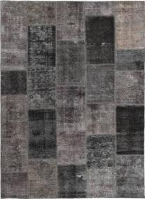 Patchwork Tappeto 165X237 Moderno Fatto A Mano Grigio Scuro/Marrone (Lana, Persia/Iran)