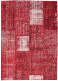 Patchwork Tappeto 160X226 Moderno Fatto A Mano Rosso/Ruggine/Rosso (Lana, Turchia)