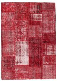 Patchwork Tappeto 163X229 Moderno Fatto A Mano Rosso/Rosso Scuro (Lana, Turchia)