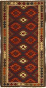 Kilim Maimane Tappeto 97X198 Orientale Tessuto A Mano Marrone Scuro/Rosso Scuro (Lana, Afghanistan)