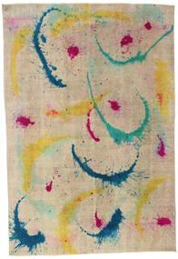 Colored Vintage Tappeto 206X300 Moderno Fatto A Mano Grigio Chiaro/Beige Scuro (Lana, Turchia)